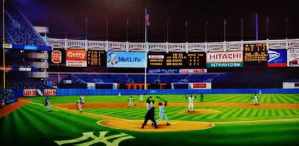 Hitter Painting - Dwight Gooden's No No by T Kolendera