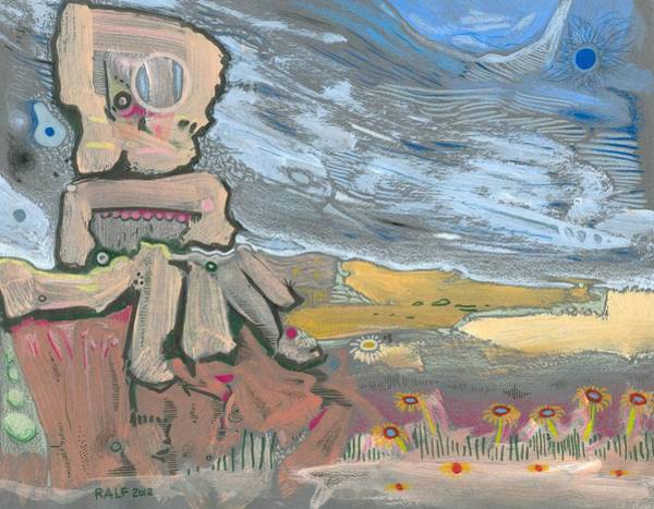 Crazy Mountains Painting - Dying In The Breeze by Ralf Schulze