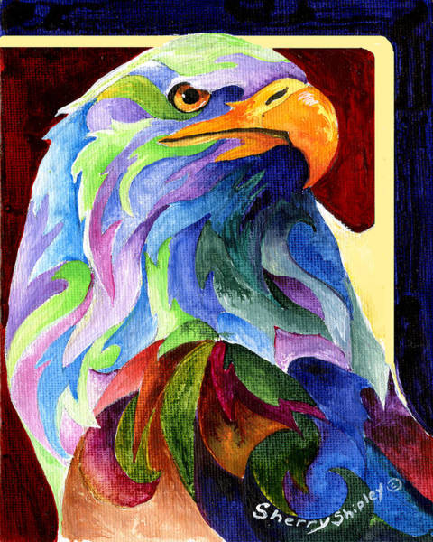 Painting - Eagle Spirit by Sherry Shipley