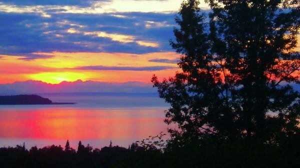 Digital Art - Early Fall Alaska Sunset by Gary Baird