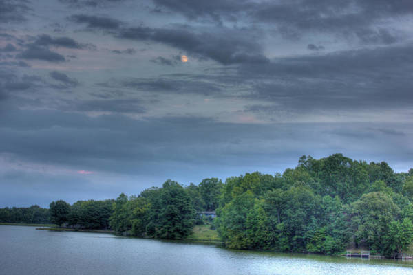 Photograph - Early Moon by Barry Jones