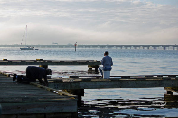 Crabbing Photograph - Early Morning Crabbing by Suzanne Gaff