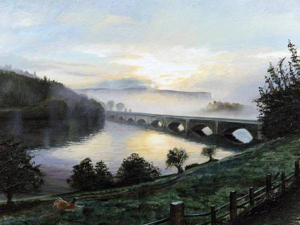 Lake District Painting - Early Morning Mist by Trevor Neal