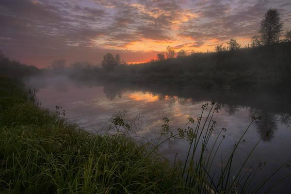 Sturgeon River Photograph - Early Morning On A Fog Covered Sturgeon by Dan Jurak