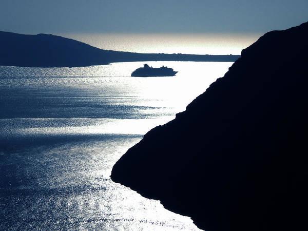 Photograph - Early Night Santorini Island Greece by Colette V Hera  Guggenheim