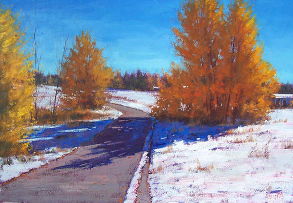 Wall Art - Painting - Early Snow by Graham Gercken
