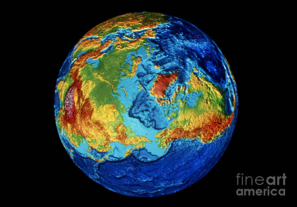 Wall Art - Photograph - Earth: Topography by Granger