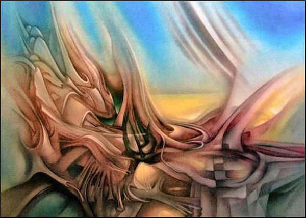 Painting - Earthcomp 1 2006 by Glenn Bautista