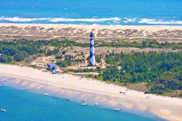 Nc Digital Art - East Coast Lighthouse by Betsy Knapp