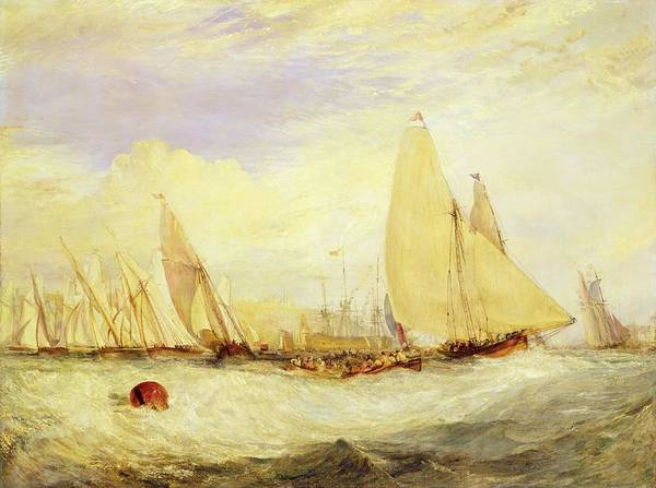 Competition Painting - East Cowes Castle The Seat Of J Nash Esq. The Regatta Beating To Windward by Joseph Mallord William Turner