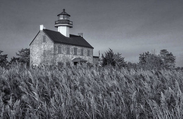 Photograph - East Point Light Black And White by Tom Singleton