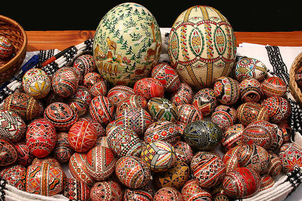 Photograph - Easter Painted Eggs by Emanuel Tanjala