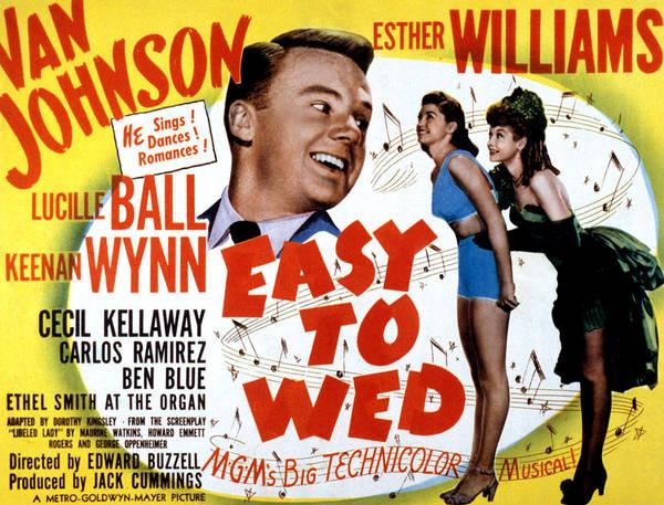Van Johnson Photograph - Easy To Wed, Van Johnson, Esther by Everett