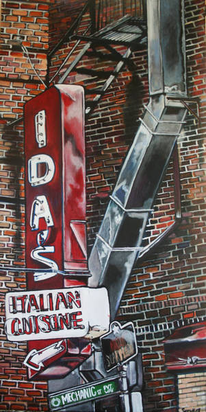 Painting - Eat At Ida's by Stephanie Come-Ryker