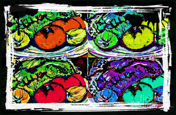 Red Onion Painting - Eat Your Veggies by Mindy Newman