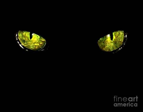 Digital Art - Ebony Eyes by Dale   Ford