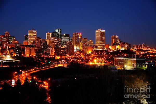 Photograph - Edmonton Skyline by Rachel Duchesne