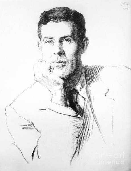 Charcoal Drawing Photograph - Edmund Clerihew Bentley by Granger