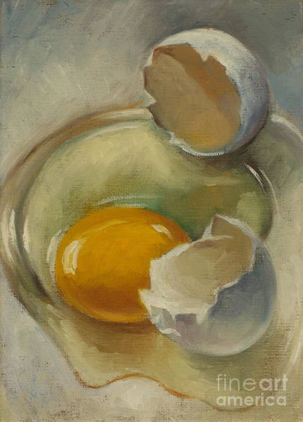 Broken Egg Painting - egg by Kim Scoble