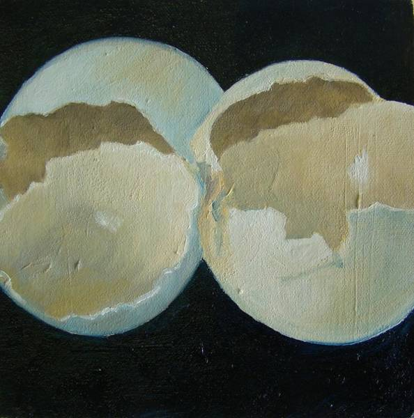 Broken Egg Painting - Egg Shells by Christina Clare