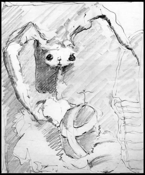 Drawing - Eggo Bunny by James Lanigan Thompson MFA