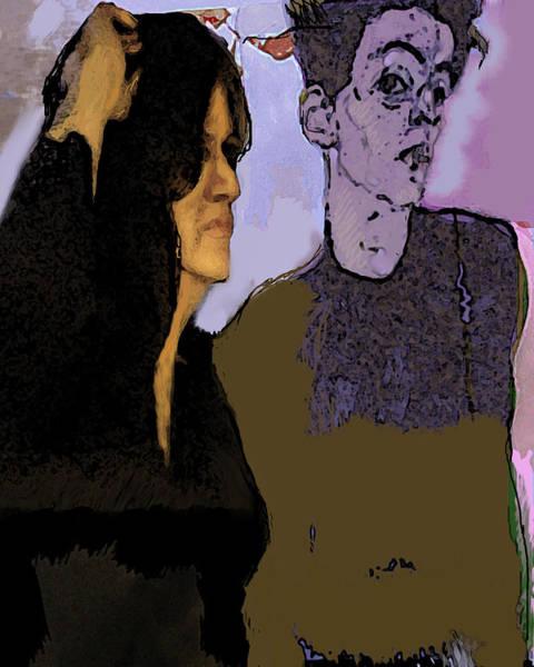 Wall Art - Mixed Media - Egon My Love by Noredin Morgan