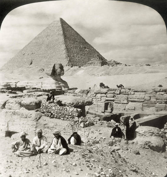 Photograph - Egypt: Great Sphinx, 1908 by Granger