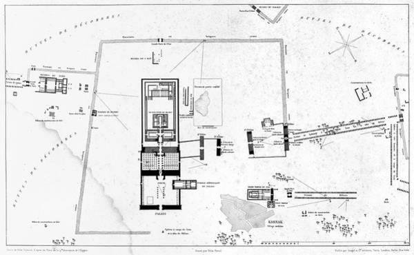 Photograph - Egypt: Karnak Map, C1858 by Granger