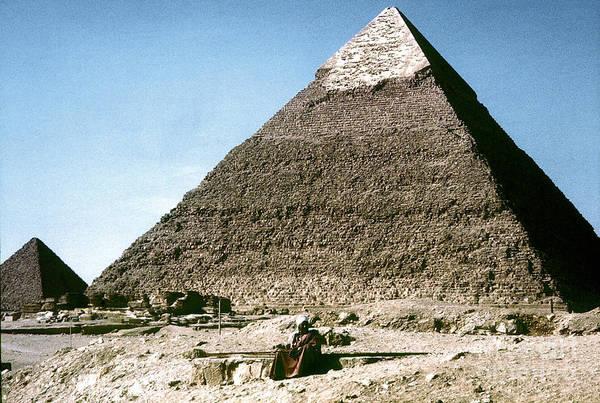 Photograph - Egypt: Khephren Pyramid by Granger
