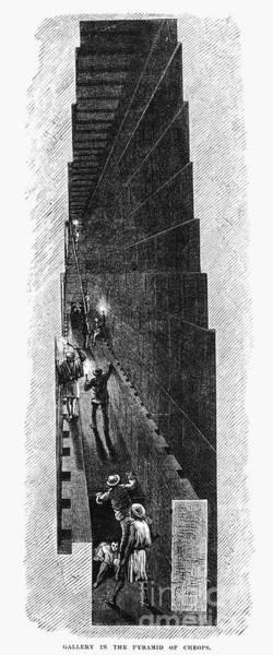 Photograph - Egypt: Pyramid Interior by Granger