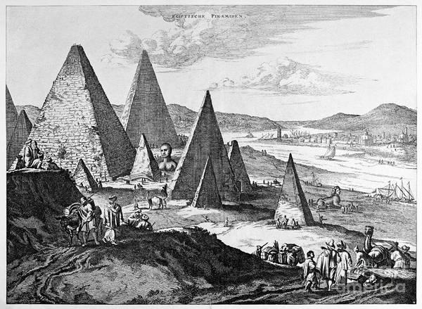 Photograph - Egypt: Pyramids, 1670 by Granger