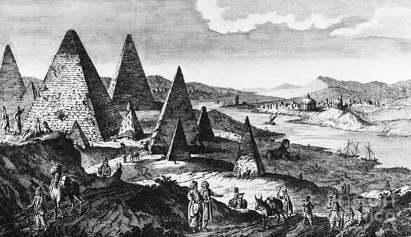 Photograph - Egypt: Pyramids, C1780 by Granger