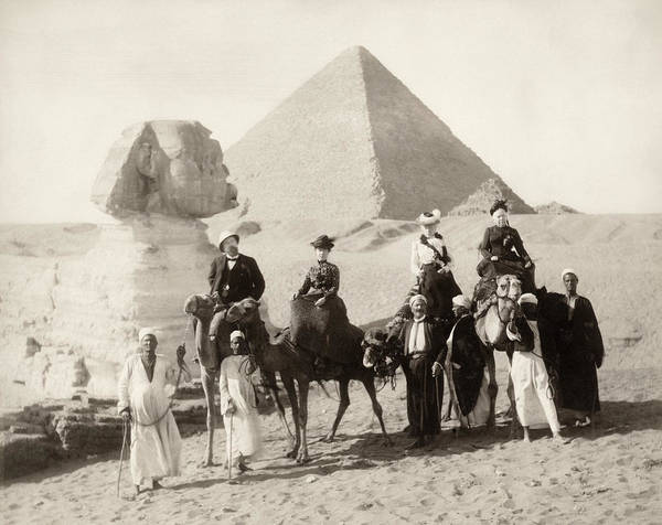 Photograph - Egypt: Tourists by Granger