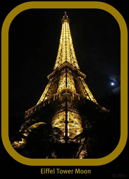 Photograph - Eiffel Tower Moon IIi Paris France by John Shiron