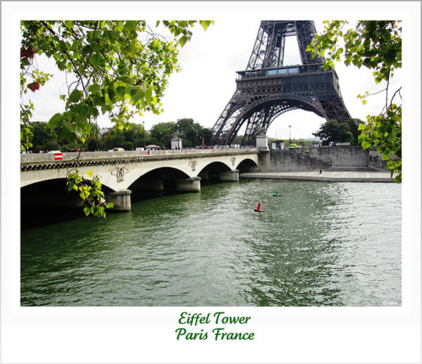 Photograph - Eiffel Tower Seine River Crossing  Paris France by John Shiron