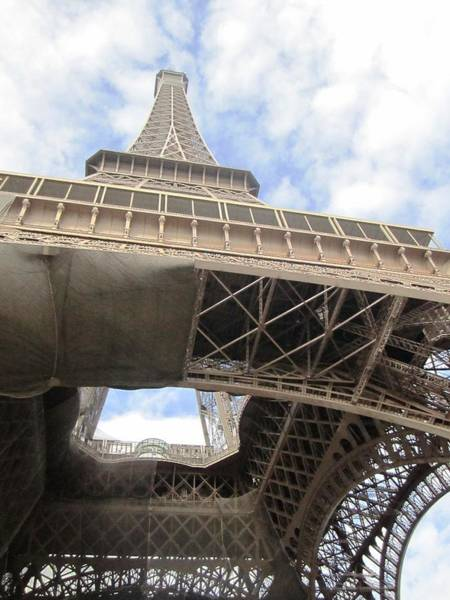 Photograph - Eiffel Tower Tarped II Paris France by John Shiron