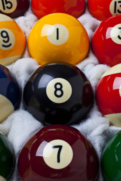 Pool Ball Photograph - Eight Ball by Garry Gay