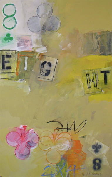 Painting - Eight Of Clubs 16-52 by Cliff Spohn