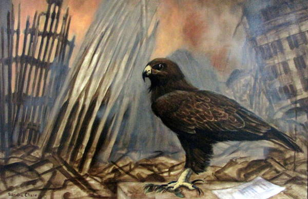 World War 11 Painting - Either Peace Or War by Sandra Chase
