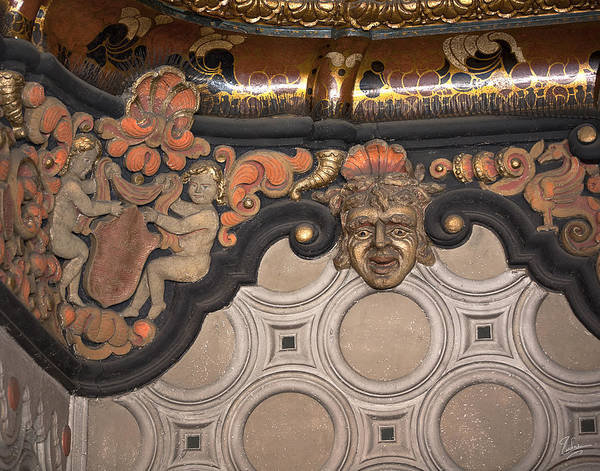 Photograph - El Capitan Theater Entrance Ceiling by Endre Balogh