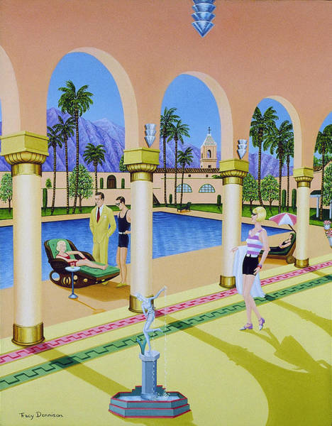 Painting - El Miradol Hotel by Tracy Dennison