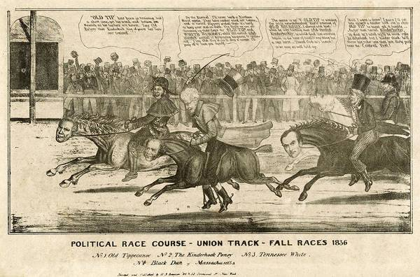 Whig Photograph - Election Of 1836. Political Cartoon by Everett