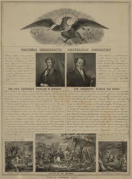 Van Johnson Photograph - Election Of 1840. Political Broadside by Everett