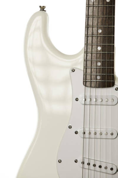 Photograph - Electric Guitar On White by M K Miller