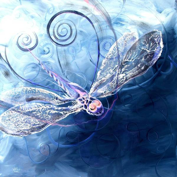 Painting - Electrified Dragonfly by J Vincent Scarpace