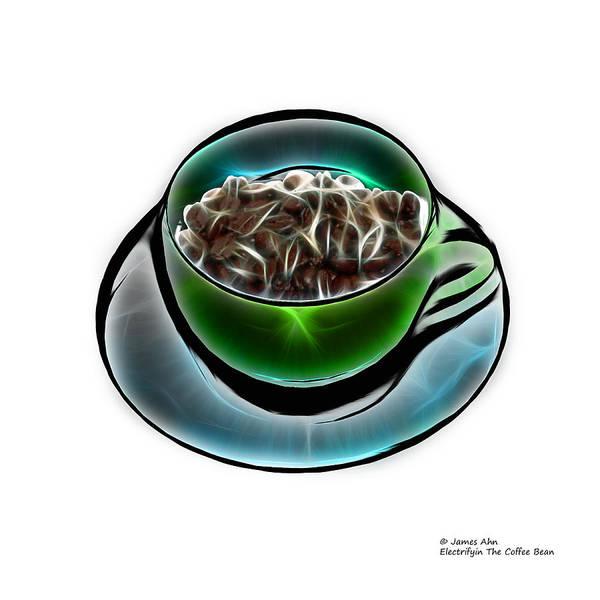 Photograph - Electrifyin The Coffee Bean -version Green Wb by James Ahn