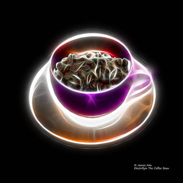Digital Art - Electrifyin The Coffee Bean -version Violet by James Ahn