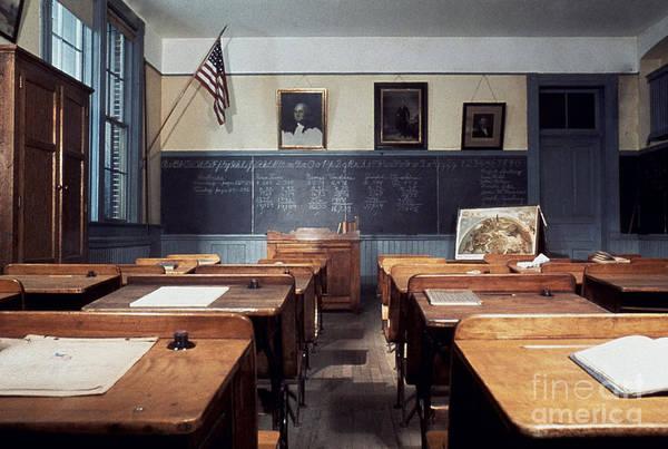 Photograph - Elementary Schoolroom, 1915 by Granger
