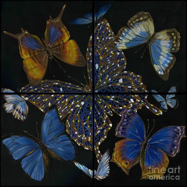 Wall Art - Painting - Elena Yakubovich Butterfly 2x2 by Elena Yakubovich