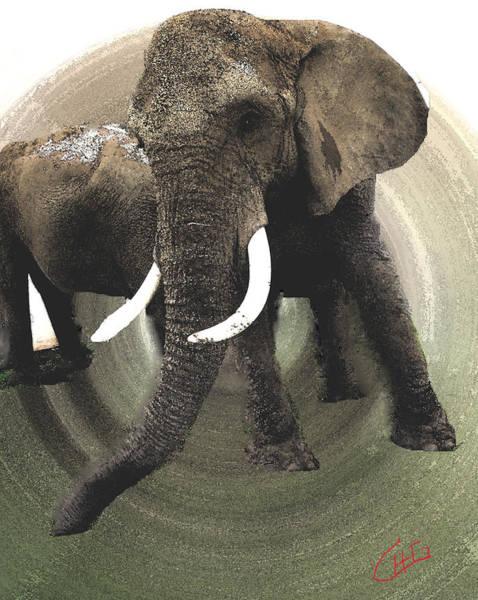 Painting - Elephant Awake by Colette V Hera  Guggenheim